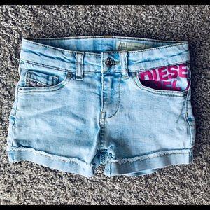Diesel Girls Denim Stretch Shorts Size 8